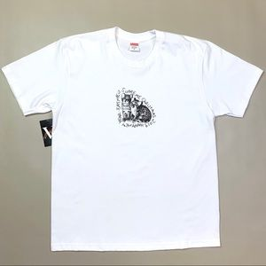 FW19 Supreme Eat Me Tee T Shirt M Medium White